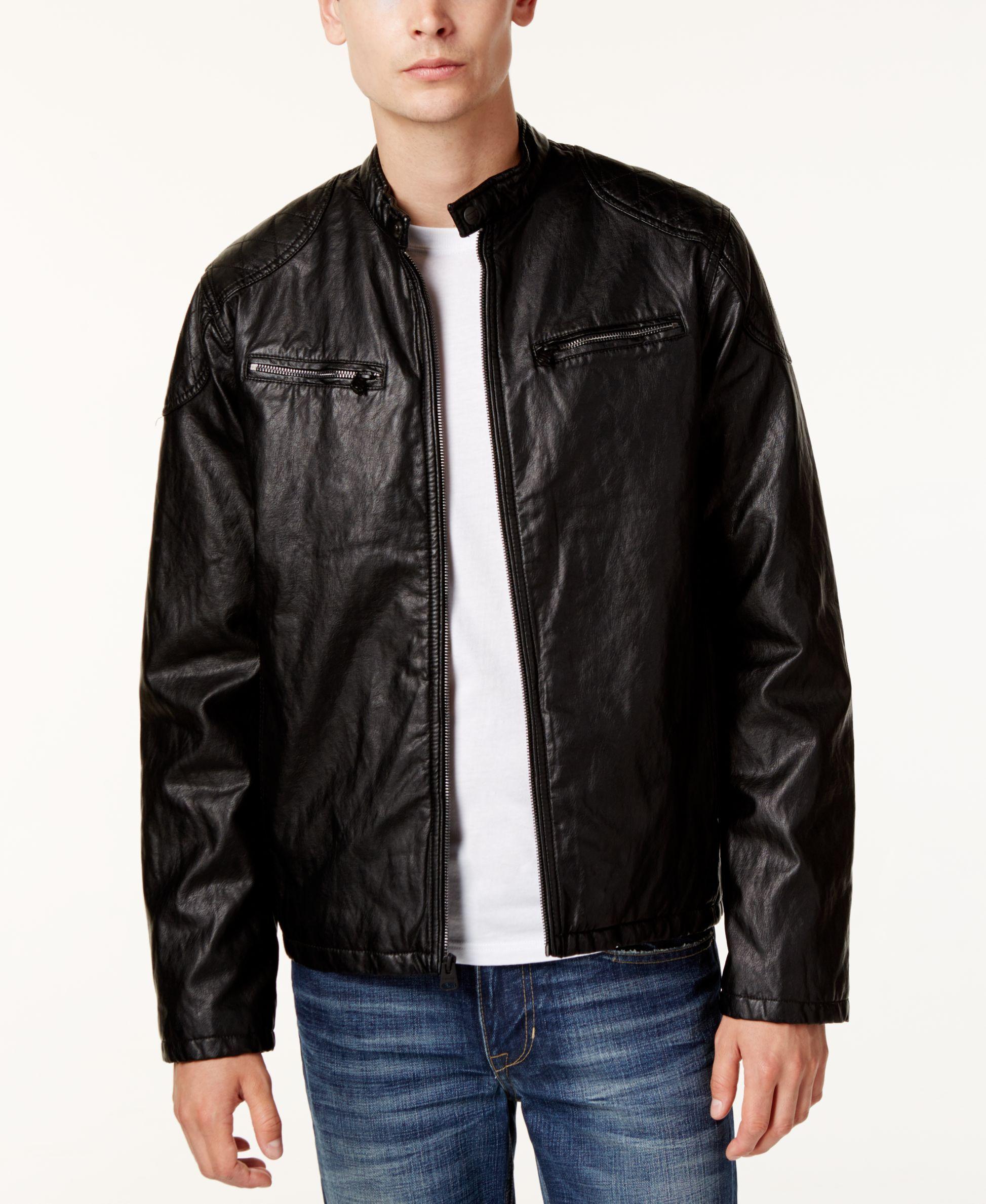 Levi's Men's Faux Leather Moto Jacket Faux leather moto