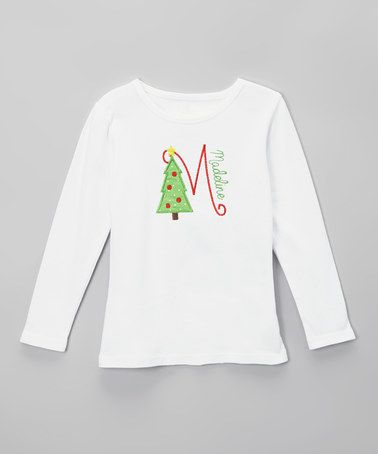 $24.99 This White Christmas Tree Personalized Tee - Infant, Toddler & Girls is perfect! #zulilyfinds