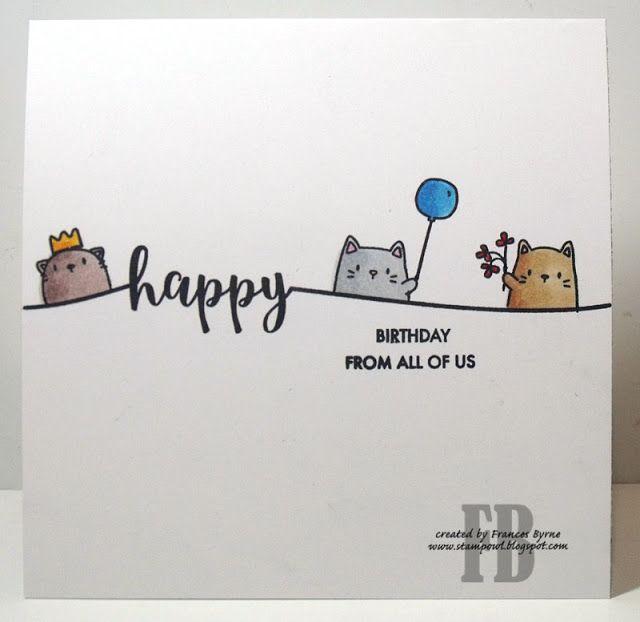 StampOwl's Studio: Cheers Party #katzengeburtstag