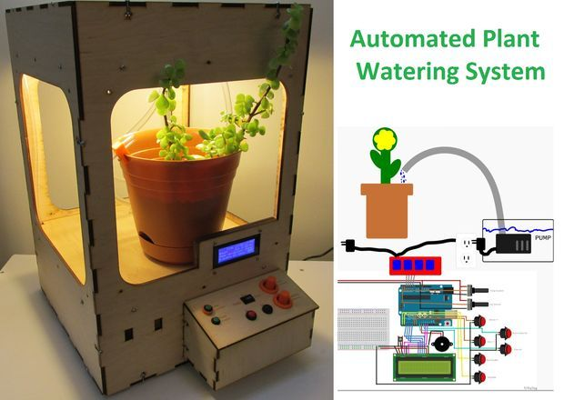 Automated Plant Watering System Electronics Projects