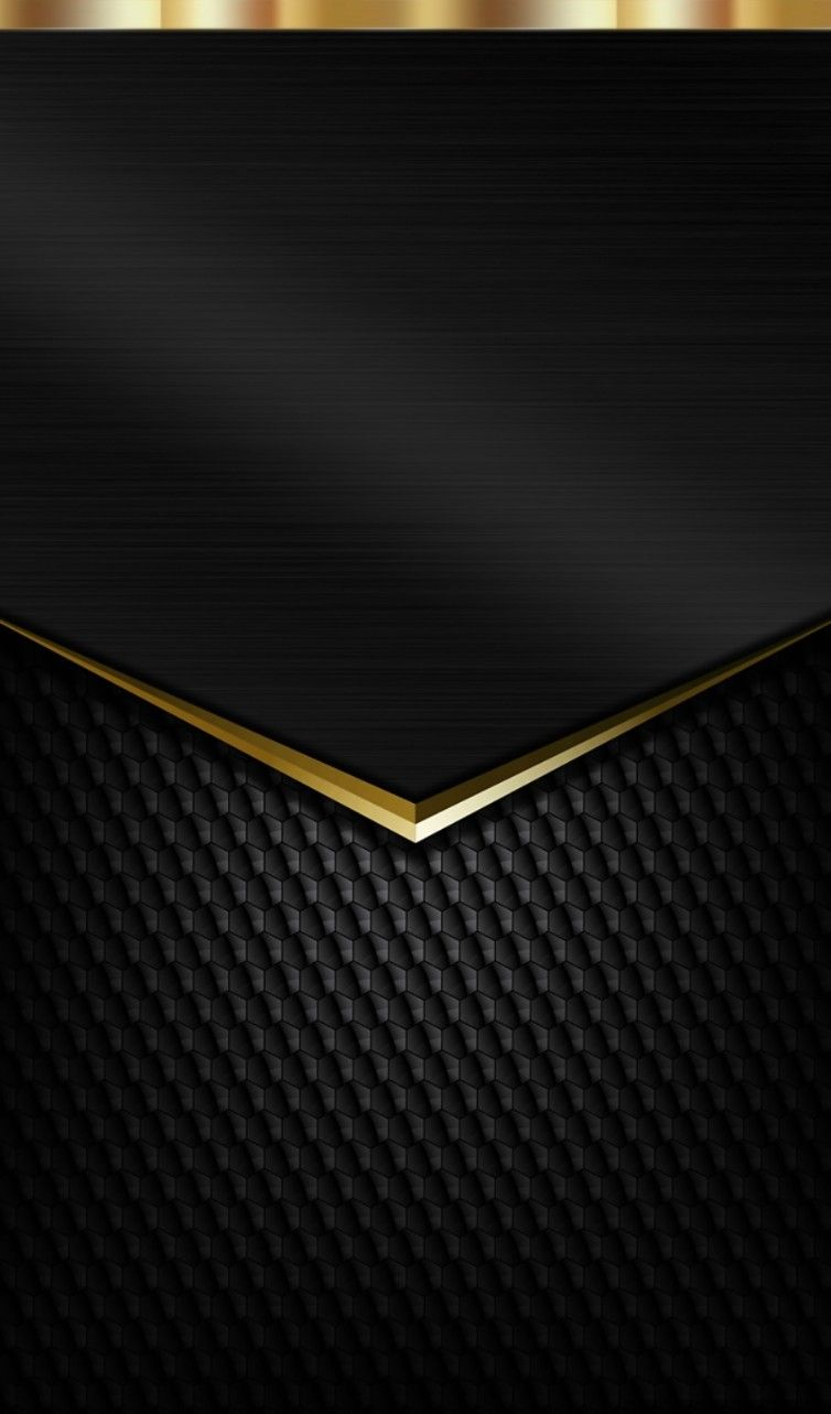Wallpaper iphone hitam - Black And Gold