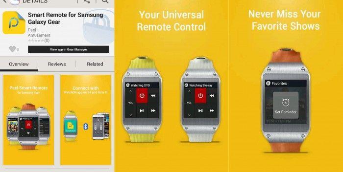Samsung Reveal Galaxy Gear Smart Remote App Exceptionally