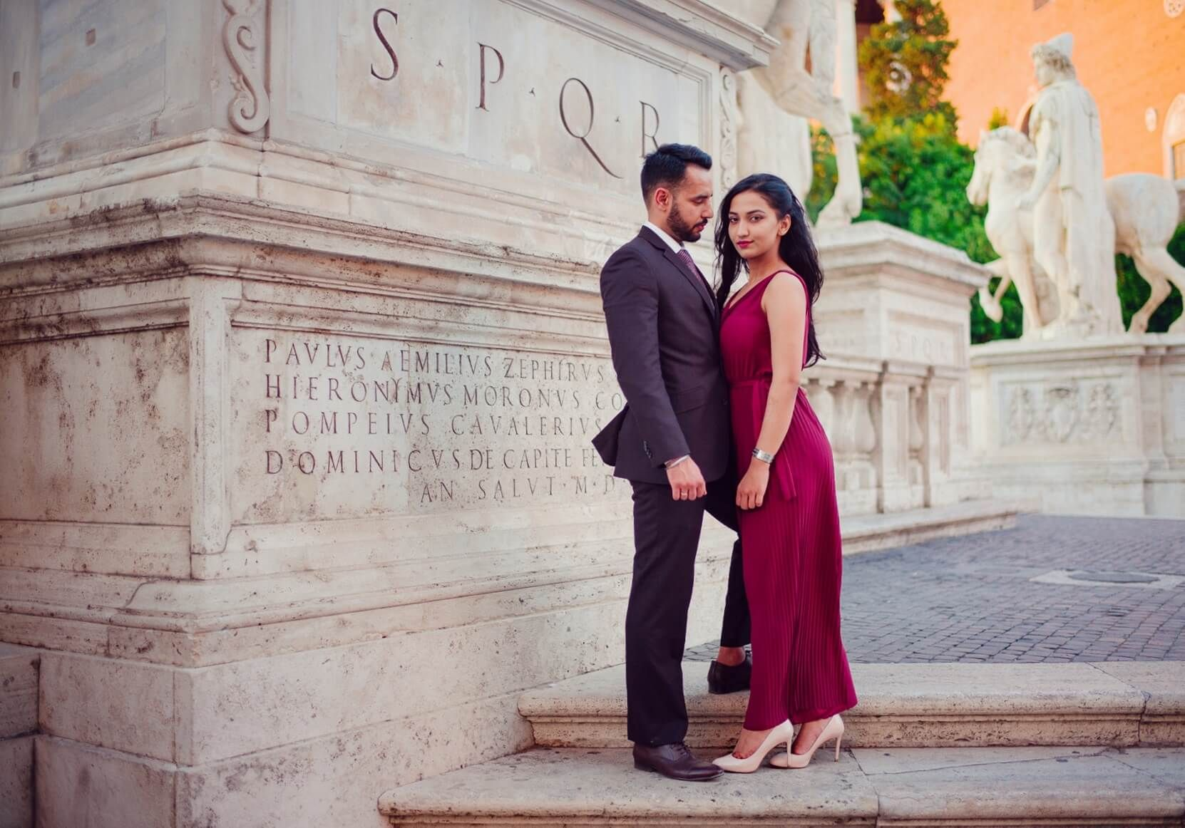 A gorgeous prewedding shoot in the city of love rome wedding