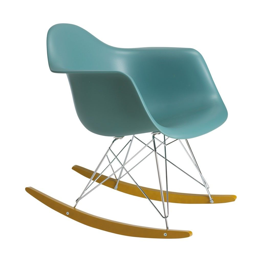 Chaise bascule rar bleu oc an vitra - Chaise a bascule rar blanche eames ...