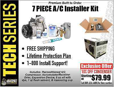 awesome PREMIUM RECONDITIONED AC COMPRESSOR KIT FITS 1996