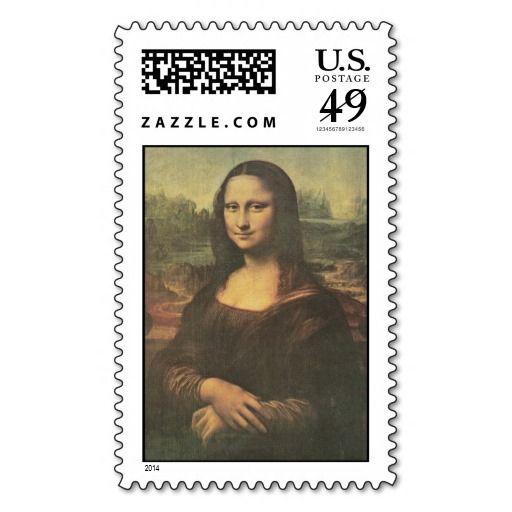 Mona Lisa Vintage Fine Art Postage