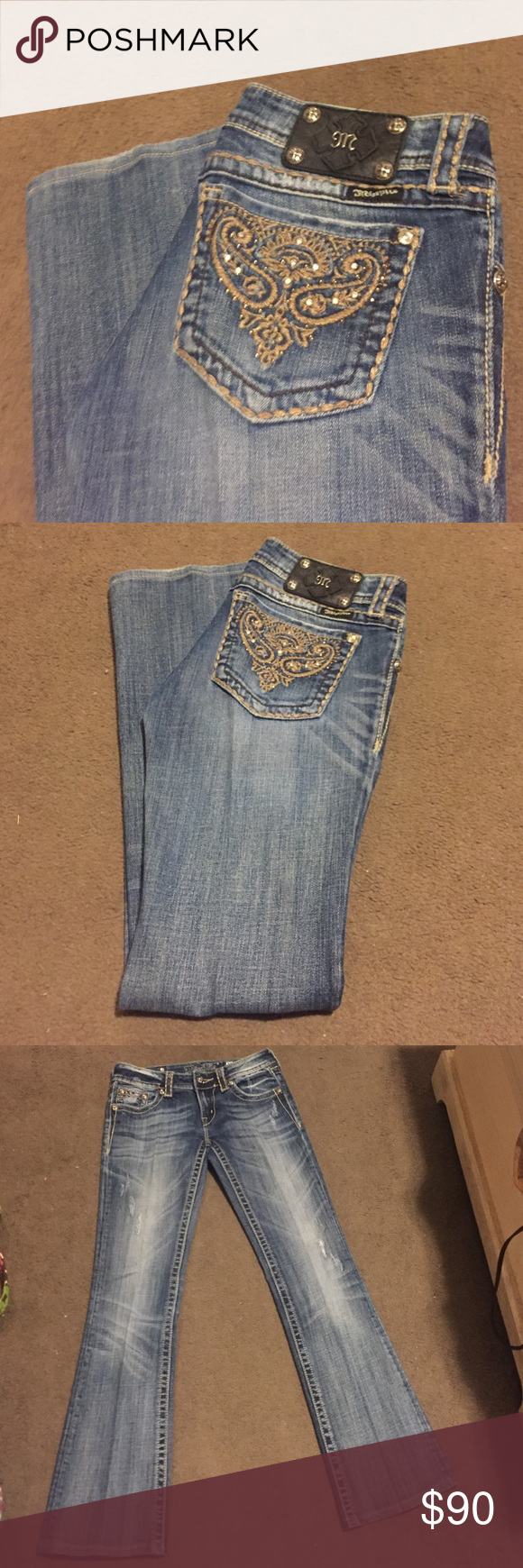 Miss Me Bootcut Jeans Size 28. | Bootcut. | 31.25 inch inseam. | Worn twice. | Excellent condition! Miss Me Jeans Boot Cut