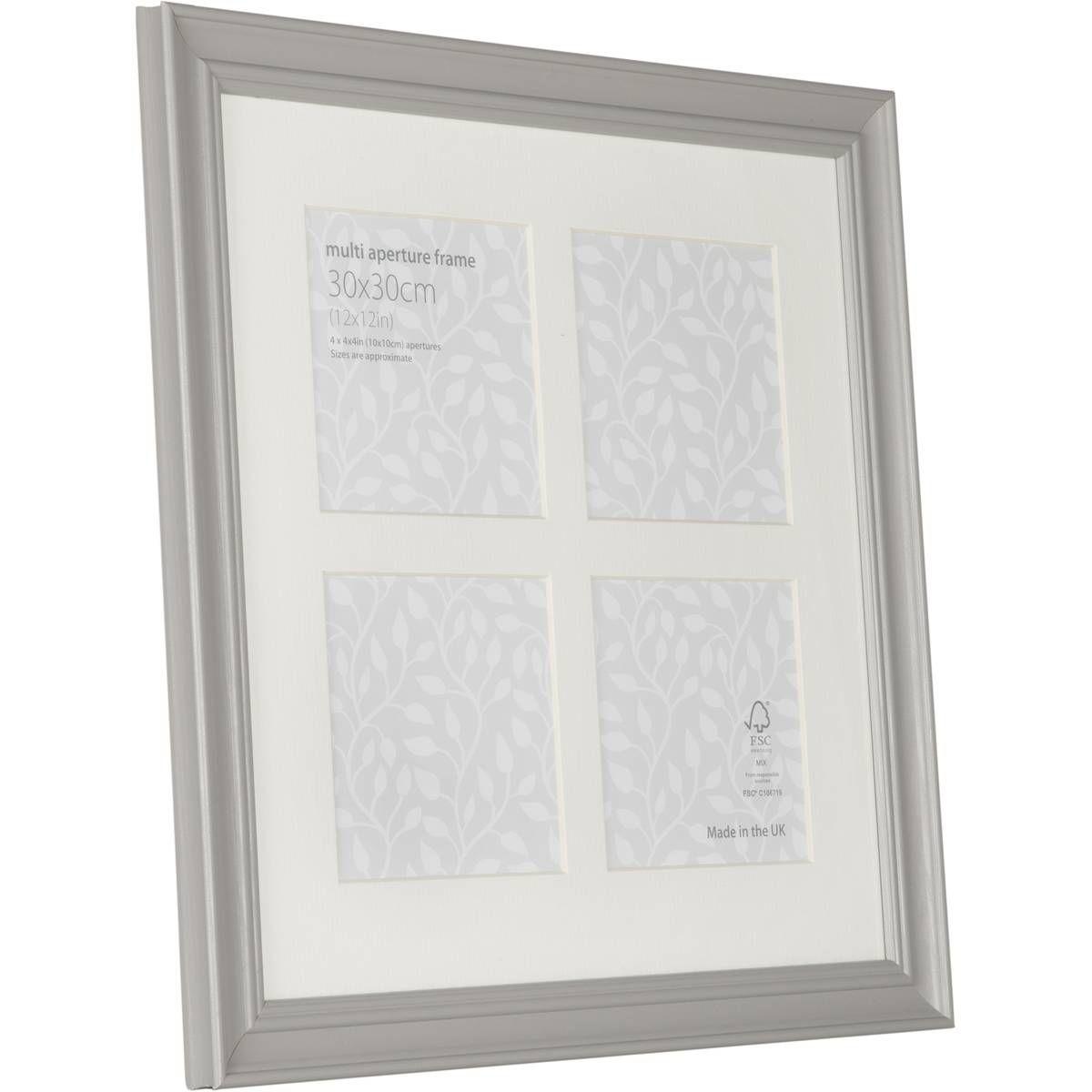 Vintage Grey Multi-Aperture Frame 30 x 30 cm   Aperture and Bedrooms