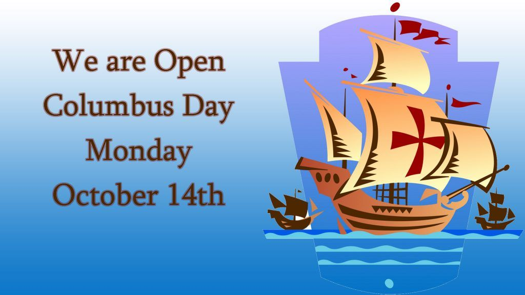 Happy Columbus Day We Are Open Today Evinspersonnel Evinsjobs