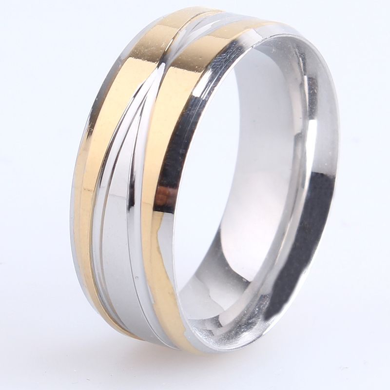 Find More Rings Information about 8mm gold silver cross stripes 316L Stainless Steel finger rings for women men wholesale,High Quality ring protector,China ring Suppliers, Cheap ring alarm from Chinese Jewelry Factory,Wholesale From Yiwu China on Aliexpress.com