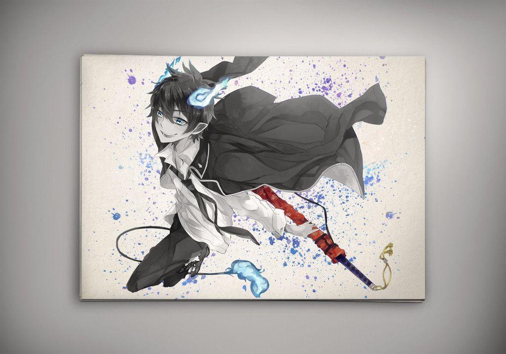Blue Exorcist Anime Poster Blue Exorcist Wall Print Blue Exorcist Home Decor Blue Exorcist Canvas Print Blue Exorcist Artwork Blue Exorcist Watercolor Print