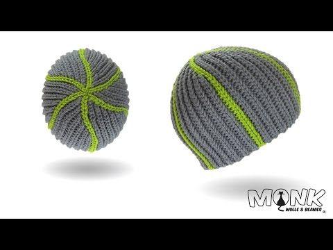 Mütze häkeln - Beanie im Karomuster - Teil 1 - YouTube | Wolle ...