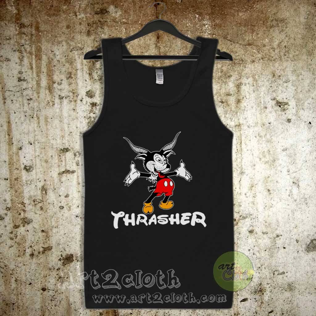 Thrasher Magazine Mouse Goat Tour Unisex Adult Tank Top  4132b2c82
