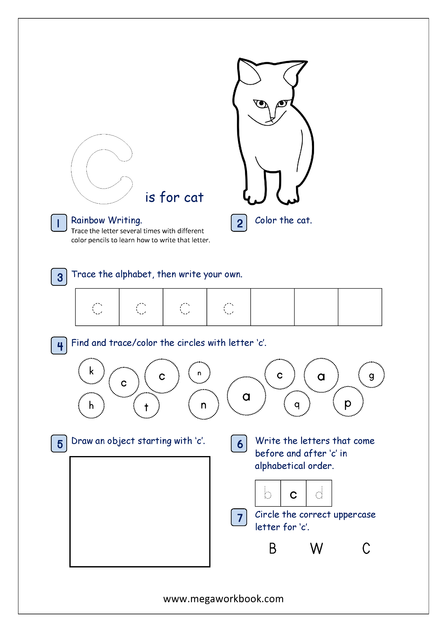 Lowercase Alphabet Recognition Activity Worksheet