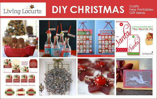 DIY #Christmas Ideas. Lots of Great Crafts, #Free Printables and ...