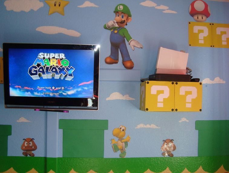 super mario bros wall decal decor peelstick nursery playroom wall painting for boys kids baby bedroom