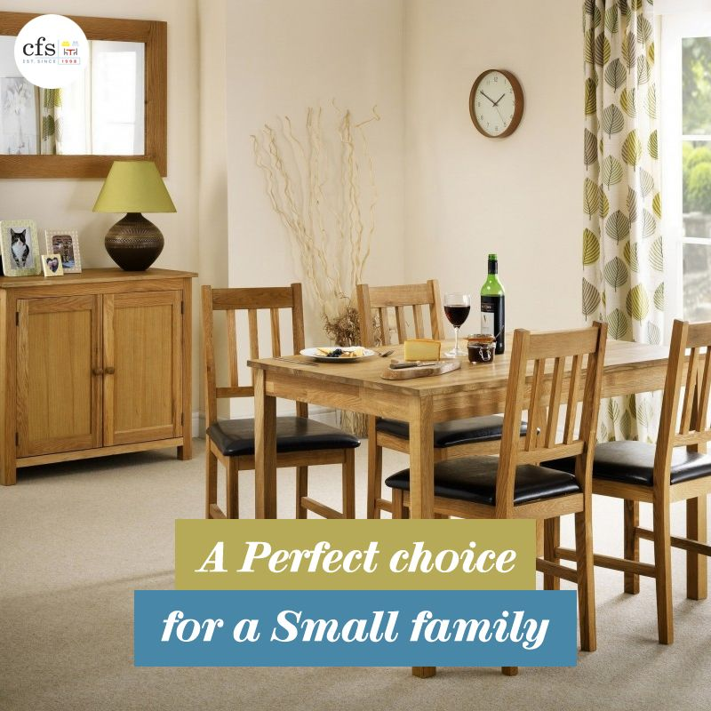This Julian Bowen Moor Oak Dining Table Is Crafted From Solid American White A