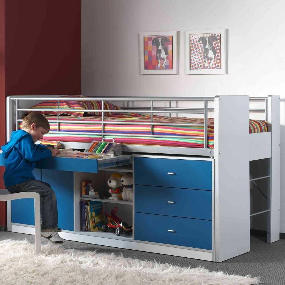 Hochbett Musty In Weiss Blau In 2020 Kinderbett Design