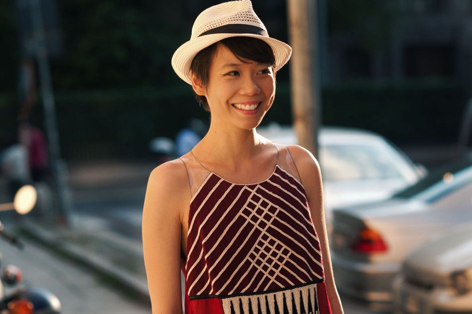 a1b197d63c25e short hair and the perfect straw hat!! photo of Janie Cai   outfit ...