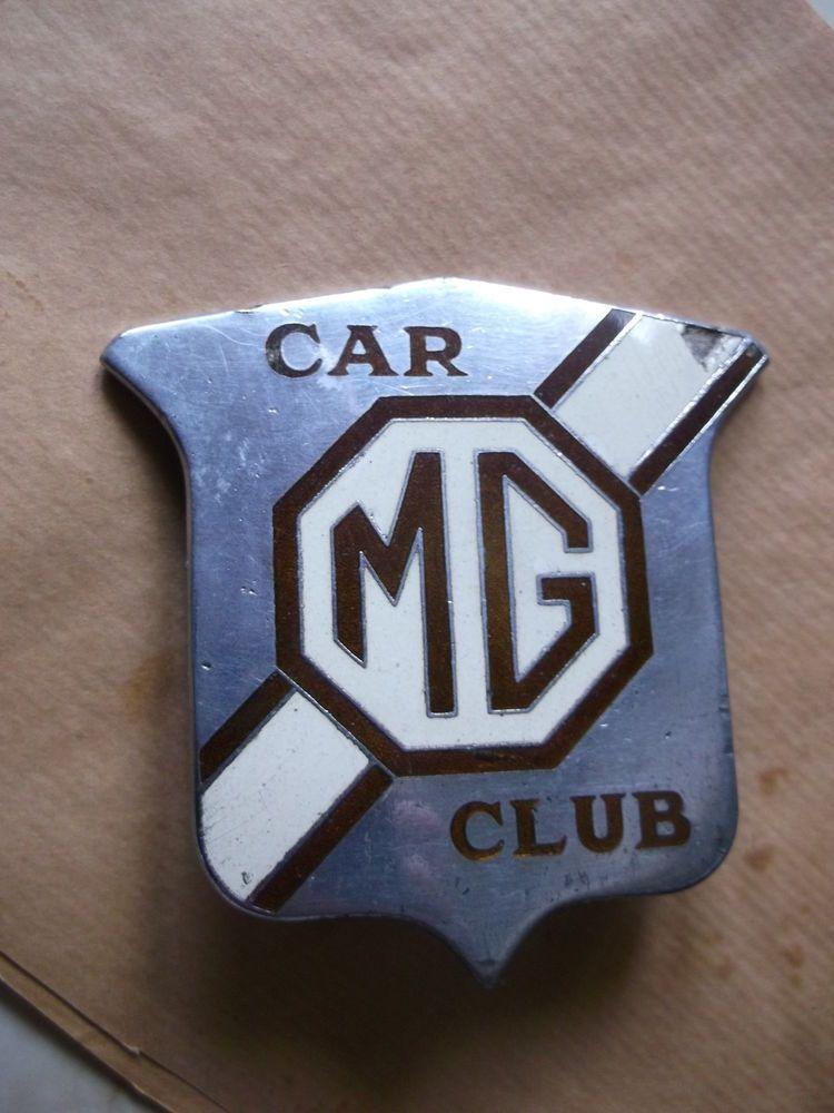 Old Pre War M G Car Club Car Badge By J Fray Birmingham J Type T Types Etc Car Badges Car Club Badge