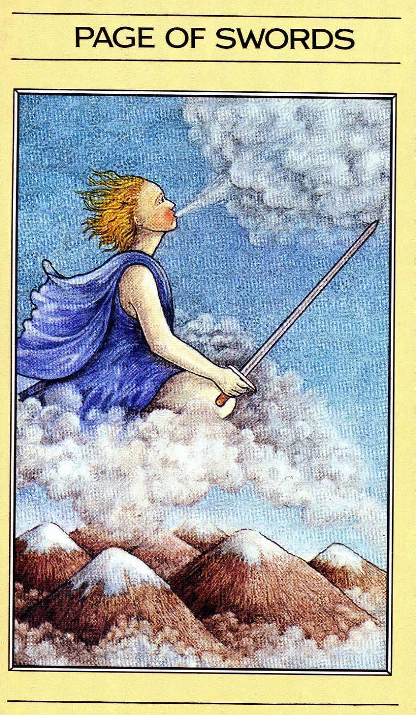 Page of swords mythic tarot in 2020 page of swords