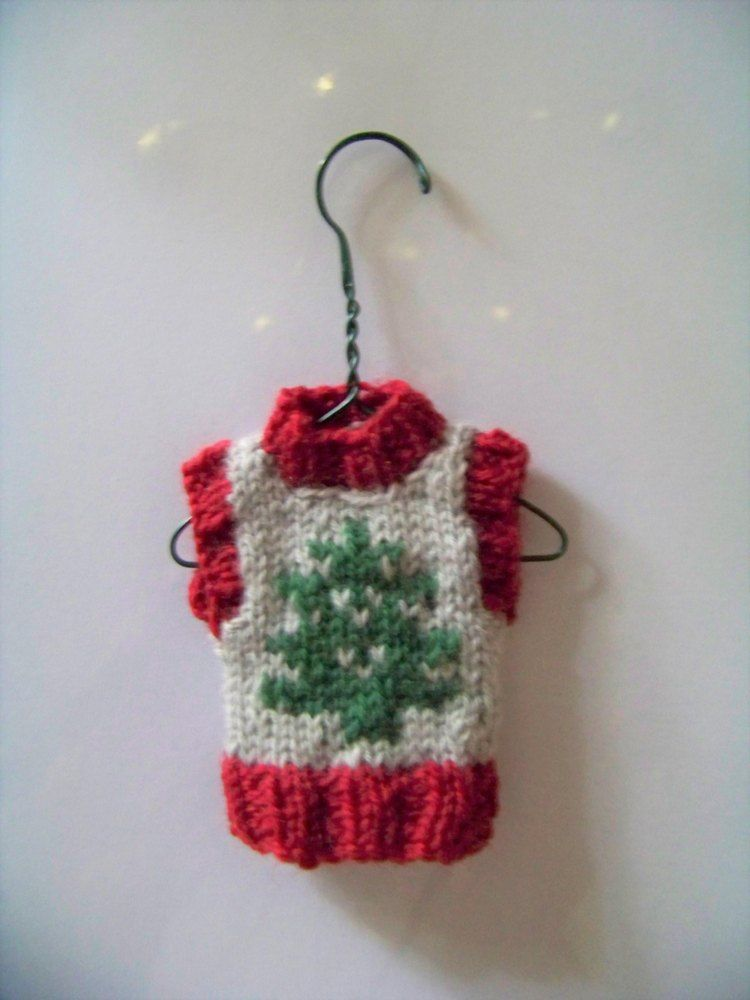Christmas Tree Ornament Tiny Vest | O Christmas Tree | Pinterest