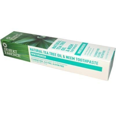 DESERT ESSENCE Natural Tea Tree Oil and Neem Toothpaste