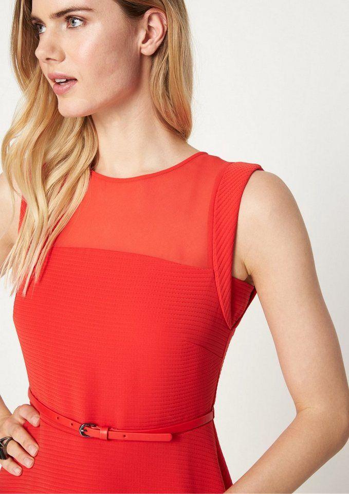 COMMA Elegantes Abendkleid mit Rippenmuster | Mode ...