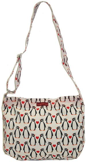 Bungalow360 Lucille Penguin Vegan Messenger Bag
