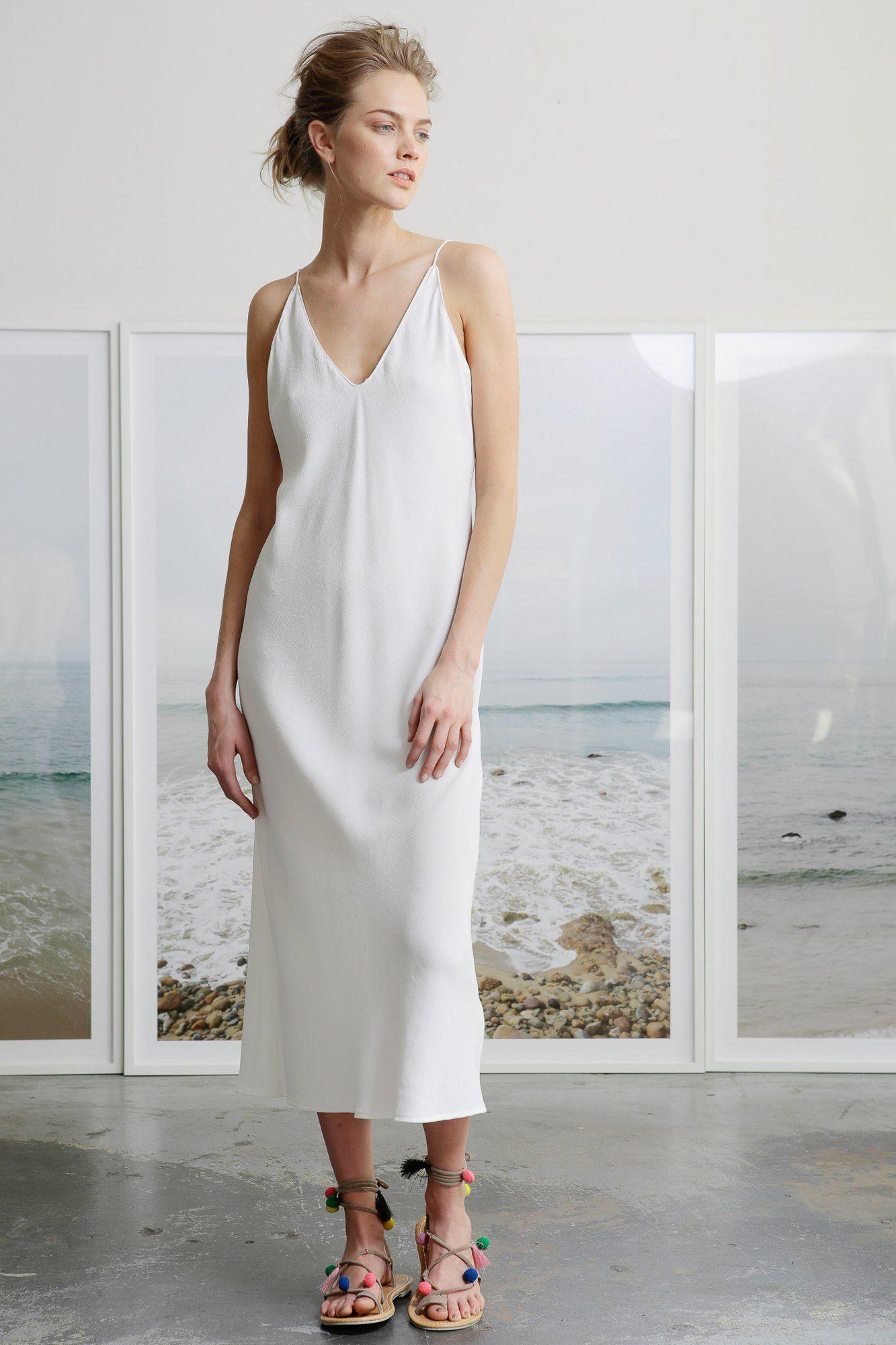 Ethical fasion heidi merrick white slip dress slip