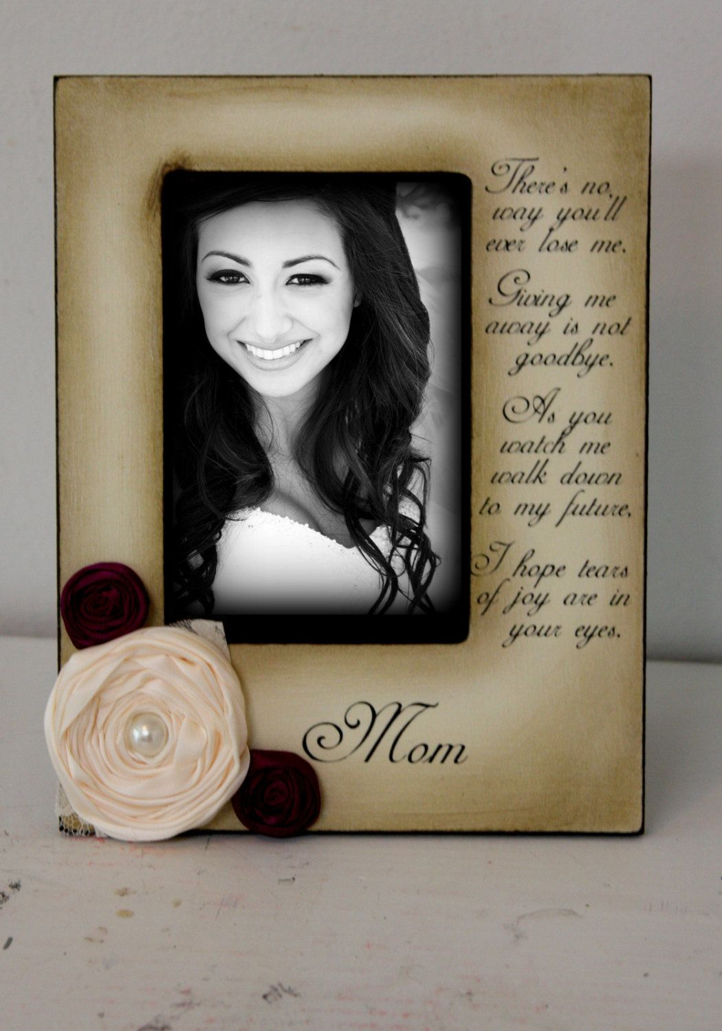Mother Daughter Wedding Frame Bride Keepsake Personalize Picture ...