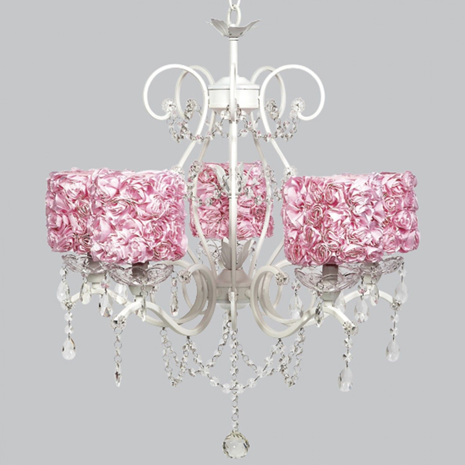 Painting of chandelier light covers ideas furniture pinterest buy your white 5 light grace chandelier with pink rose garden drum shades by jubilee collection here the white 5 light grace chandelier with pink rose aloadofball Images