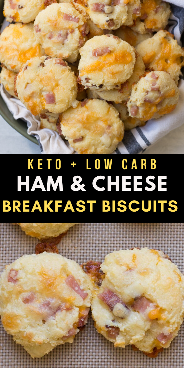 Keto Ham and Cheese Breakfast Biscuits