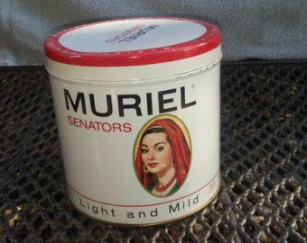 Retro Tabak Keukens : Vintage muriel senatoren sigaar tin tin things pinterest