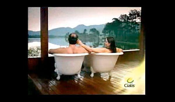 Cialis Commercials Kinda Creepy Cringe Marketing Bathtub