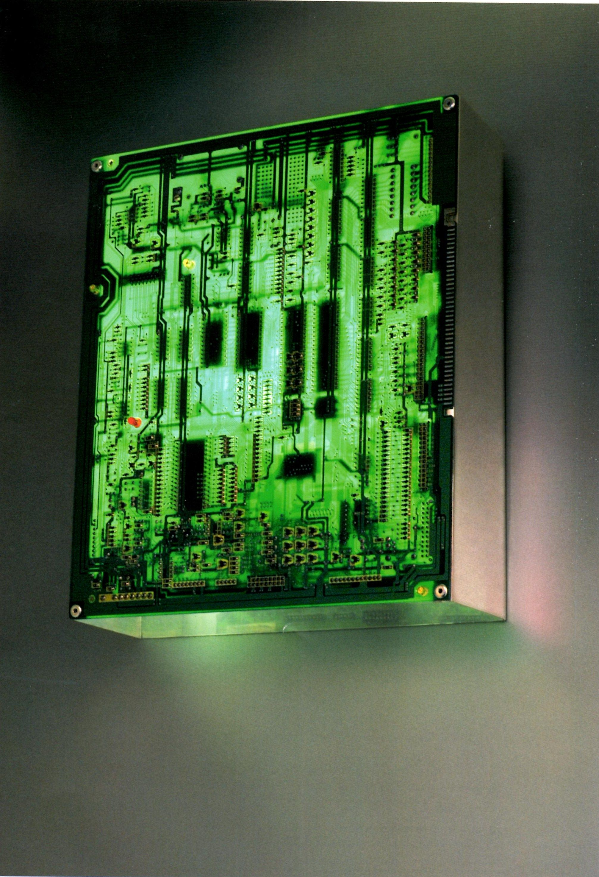 How To Recycle A Computer Parts Into Lamp Technology Pinterest Laptop Hard Drive Displayed On Circuit Board Clock Unique