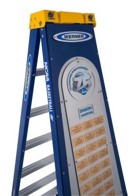 The Official 75th Ncaa Championship Ladder A Custom 9 Foot Step Ladder Made By The Werner Co Celebrates Every Ncaa Championship Basketball Championship Ncaa