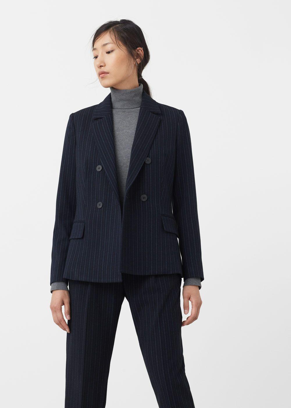 comprar seleccione para el despacho reputación primero Americana traje raya diplomática - Mujer | zara, bershka ...