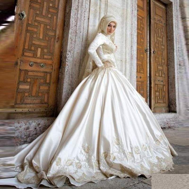 Wedding gown arabic style dresses