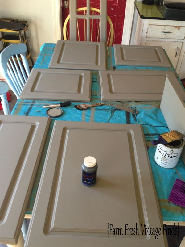 Thermofoil Cabinets In Annie Sloan French Linen Part 2