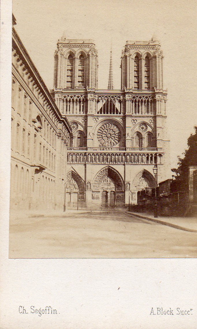 Carte de visite Cdv albumine albumen A. Block Paris Notre Dame ...