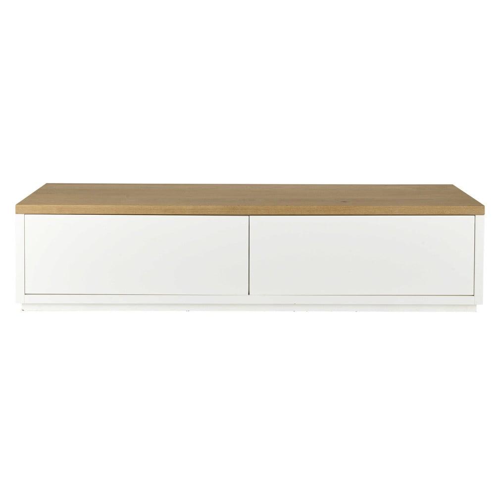 meuble tv en chne massif blanc l 180 cm - Meuble Tv White Maison Du Monde