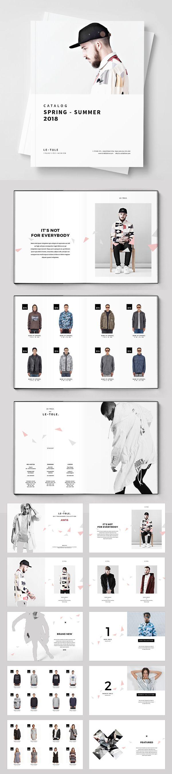Fashion Catalog Brochure Template  Catalogo De Productos
