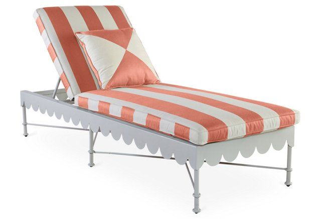 Awning Adustable Chaise, Coral   outside stuff   Pinterest   Playas ...