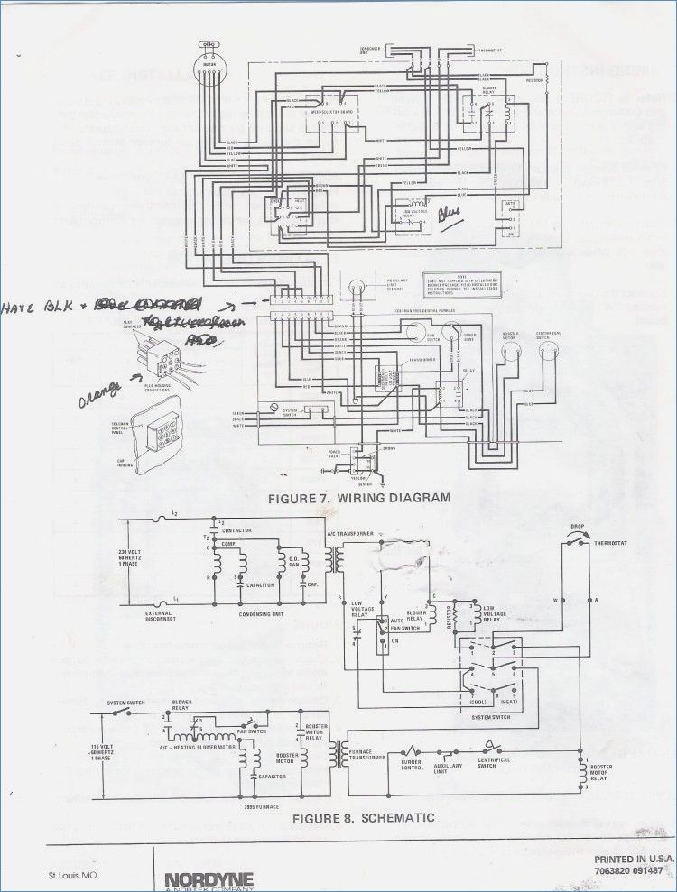 electric furnace wiring diagram also mobile home goodman others rh com  basic nordyne troubleshooting