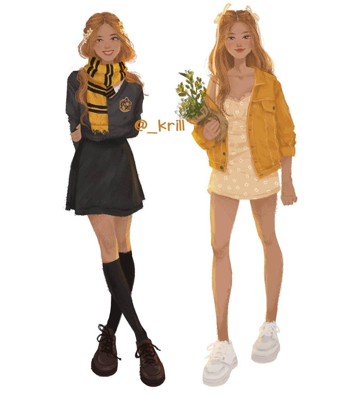 Krill On Instagram Blackpink As Their Hogwarts Houses Rose Year 6 Hufflepuff Favor Harry Potter Outfits Harry Potter Anime Harry Potter Aesthetic