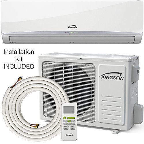 Kingsfin 12 000btu Mini Split Ductless Ac Air Conditioner And Heat Pump 12000 Btu 230v 15 Seer Complete System