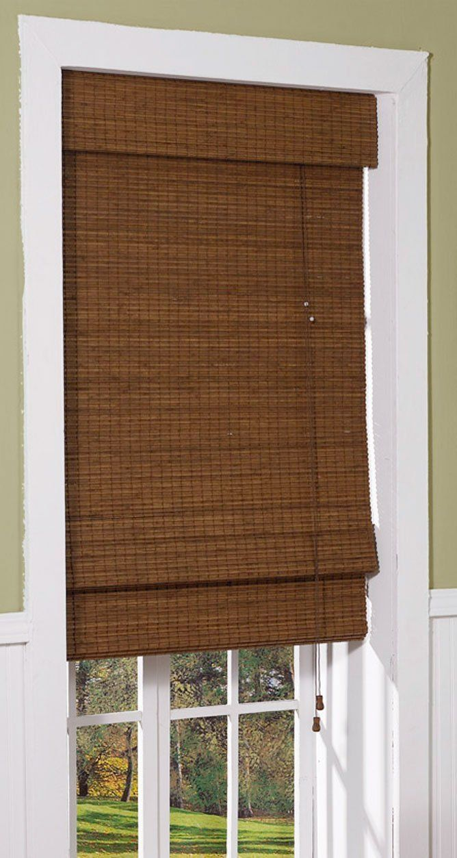 Radiance 0216200 Cape Cod Bamboo Roman Shade 23 Inch Wide By 72 Long Maple Home Kitchen