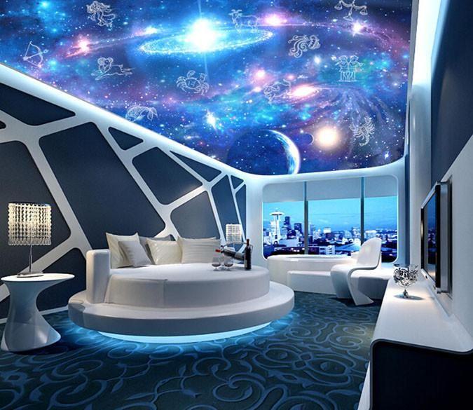 Blue Stars Night Sky Planet 1