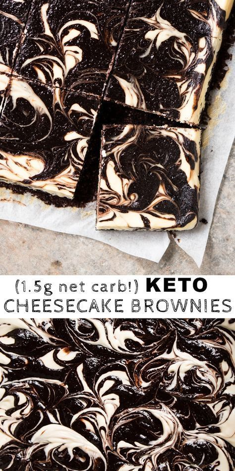 (1.5g net carb!) Gluten Free & Keto Cheesecake Brownies